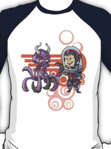 SpaceKid and the Purple Squiggle-Horned Skulltupus T-Shirt