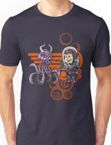 SpaceKid and the Purple Squiggle-Horned Skulltupus Unisex T-Shirt