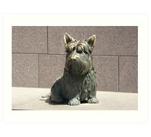 FDR Scottie Dog Art Print