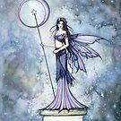 Blue Lumina Fairy Mystical Moon Fantasy Art by Molly  Harrison