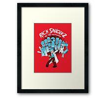 Rick Vs the Multiverse shirt Framed Print