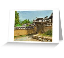 Korean Gate Greeting Card