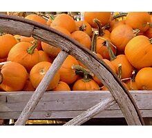 Pumpkin Wagon Photographic Print