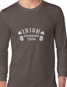 Irish drinking team green t-shirt for St. Patrick's day Long Sleeve T-Shirt