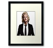 Marilyn Monroe Tuxedo Framed Print