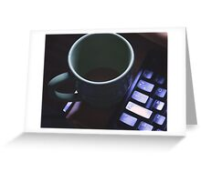Forgotten Coffee  Greeting Card