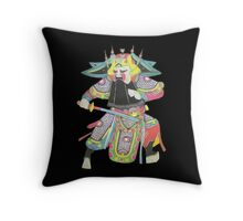 china warrior 1 black Throw Pillow