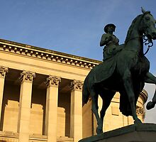 Queen Victoria on horseback 2 by Paul Reay