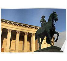 Queen Victoria on horseback 2 Poster