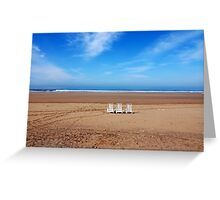 Empty Beach Greeting Card