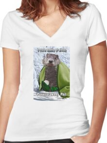 Groundhog Day Women's Fitted V-Neck T-Shirt