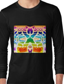 Stain Glass Crosses Duvet Long Sleeve T-Shirt