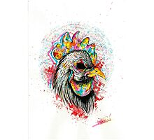 Mr. Rooster Photographic Print