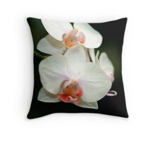 Orchid Tongues Throw Pillow