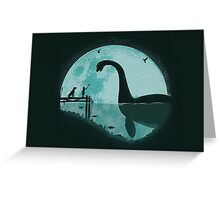 Encounter Under a Blue Moon Greeting Card