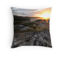 Highlands sunset Throw Pillow