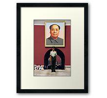 Mao portrait - China Framed Print