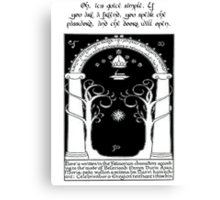 Door to moria Canvas Print
