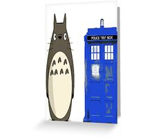 Totoro meets the tardis Greeting Card