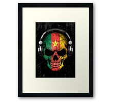 Dj Skull with Cameroon Flag Framed Print
