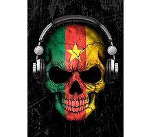 Dj Skull with Cameroon Flag Photographic Print