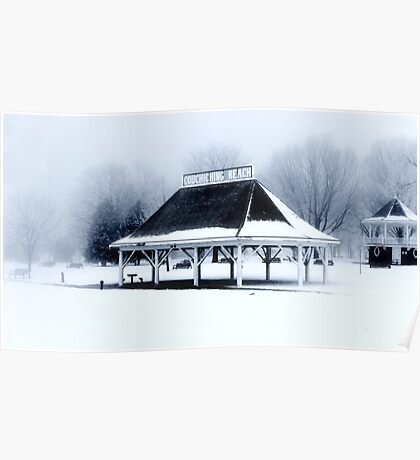 Orillia Waterfront in Black and White Poster