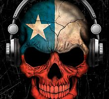 Dj Skull with Chilean Flag by Jeff Bartels