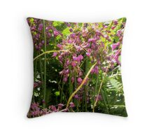 Painterly garden Throw Pillow