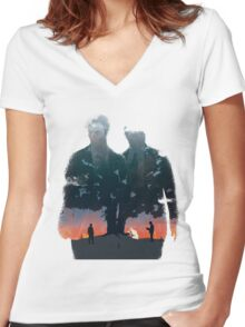 True Detective - The Long Bright Dark Women's Fitted V-Neck T-Shirt