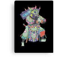 china warrior 3 black Canvas Print