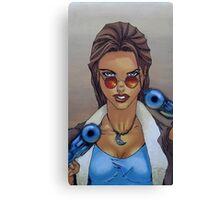 Lara Croft 1997 - By Ed Diver Canvas Print