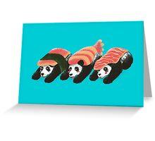 Panda Sushi Greeting Card