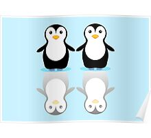 PENGUIN PAIR ON ICE Poster