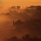 San Giminiano in the Morning Mists by Eva &amp; Klaus WW