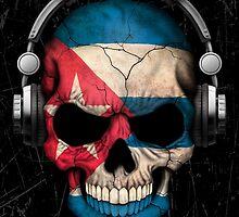Dj Skull with Cuban Flag by Jeff Bartels