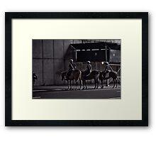 cops on horses Framed Print