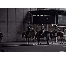 cops on horses Photographic Print