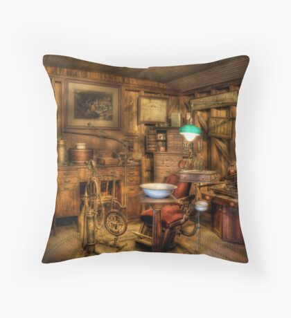 The Dentist Chair  Throw Pillow