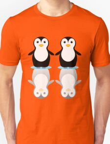 PENGUIN PAIR ON ICE Unisex T-Shirt