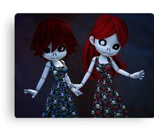 Gothic Rag Dolls Canvas Print