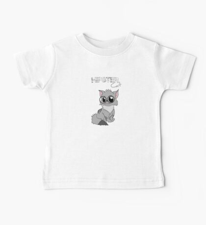 Hipster cat - kitty with glasses Baby Tee