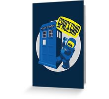 Spaceship ! Greeting Card