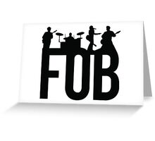 Fall Out Boy Silhouettes Greeting Card