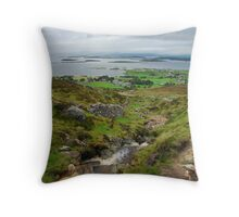 Pilgrimage up Croagh Patrick, Ireland Throw Pillow