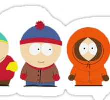 South Park Bus Stop Crew Sticker