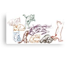pratt cats Canvas Print