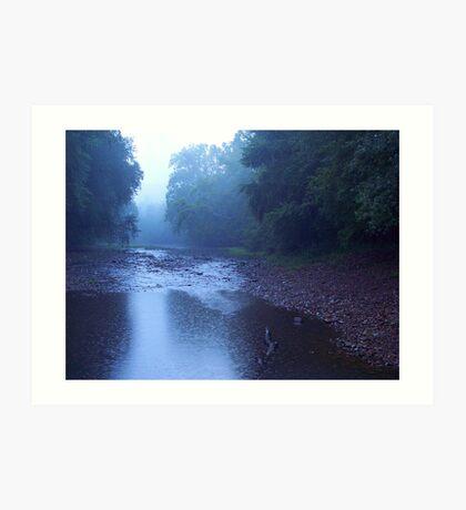 River Rain Art Print