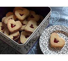 day 34: heart cookies Photographic Print
