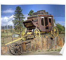 Prairie Stagecoach Poster