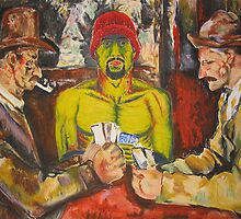 "Cezanne- I'm one of ""the card players"" by Christopher Ripley"